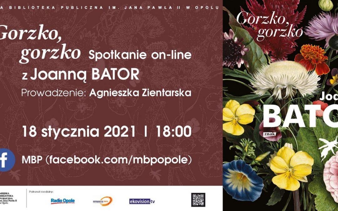 Wirtualne spotkanie z Joanną Bator w MBP